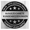 Auszeichnung: Ausgezeichnete Kundenbeziehungen Flowfact