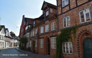 Häuserfront in Lüneburg